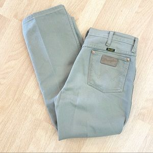 Mens Wrangler Khaki Green Jeans Pleat Front